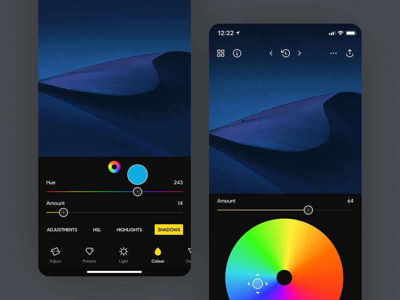 Photo Editor • Split Toning ios app ios light mode dark mode clean ui photo editor camera photography photo