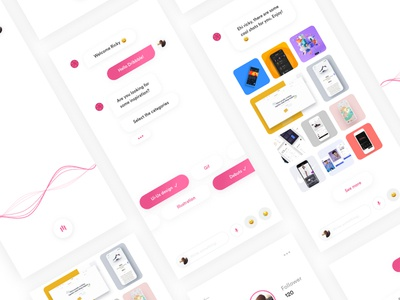 Dribbble Assistant interface interfaces dribbble debut firstshot digitaldesign chat chatbot assistant uidesign ux ui
