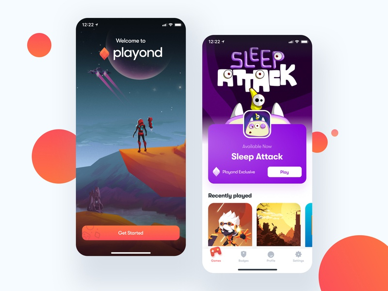 Introducing Playond subscription game design bendingspoons ui mobile console play games gaming game