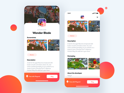 Playond - Game Detail game design branding game art subscription clean ios app gaming app play gaming console games game ui