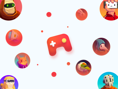 Playond - Arts interface illustration app uidesign avatar avatars game asset game design art game art console gaming games game ui