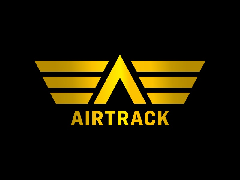 Airtrack flight airtrack airplane logo