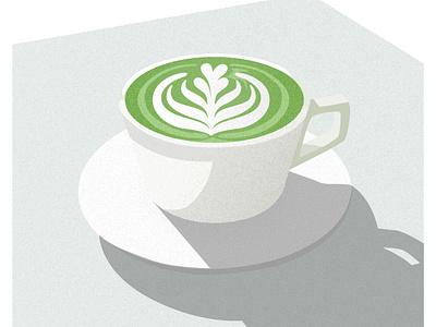 Matcha Latte Illustration matcha illustration coffee illustration matcha design vector coffee illustration