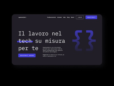 Recruitment for dev landing page animation ux ui scroll motion ios interaction illustration colorful