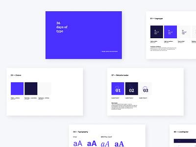 36 days of type - website styleguide type typography 36 days of type ux design ux uiux ui design ui components design system documentation styleguide web design design website interaction 36daysoftype