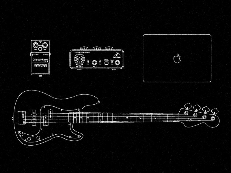 Gear Diagram diagram behringer pedal distortion boss guitar blueprint illustration bass