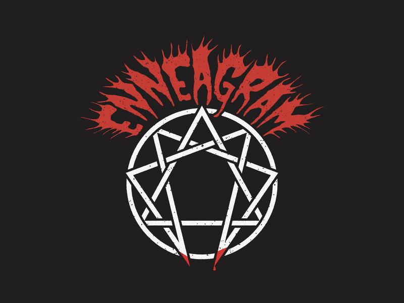 ENNEAGRAM × METAL band logo logo black metal heavy metal death metal metal enneagram