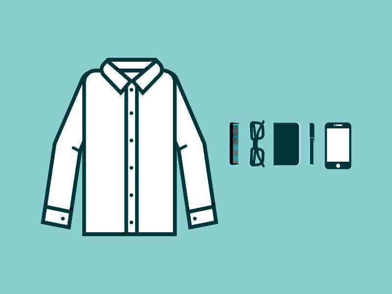 Shirt + Items illustration shirt vector icon icons