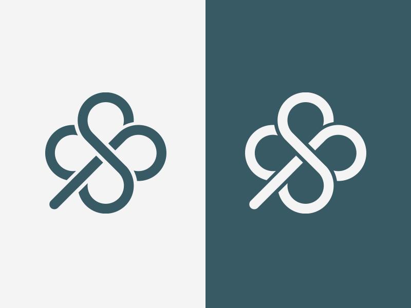 SP Clover lucky clover monogram logo design logo