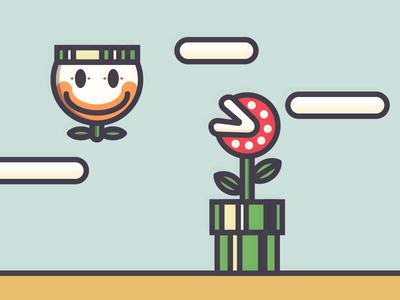 Super Mario World piranha plant vector nintendo illustration video games retro snes super mario world mario