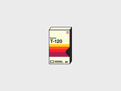 VHS Sticker sticker diy vintage retro vhs icon illustration