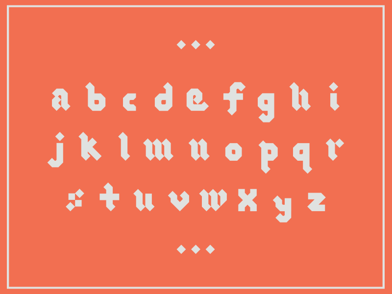 Blackletter (lowercase) typeface modern logotype lettering gothic font blackletter