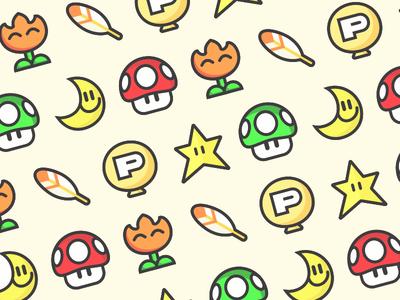 Super Mario World Power Ups By Matt Cole Wilson Dribbble
