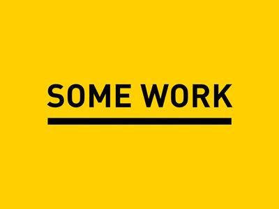 SOME WORK /// Video Portfolio