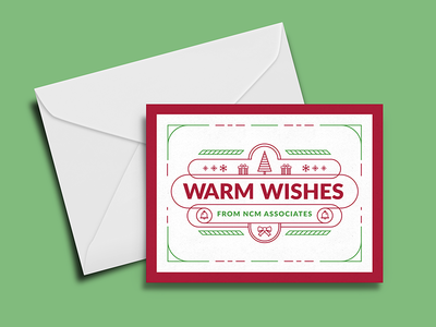 Company Holiday Card warm wishes happy holidays card greeting icons holiday christmas