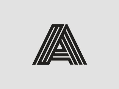 A - Mark typography type a logomark logo letter