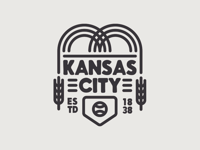 Kansas City emblem badge kansas missouri royals illustration lockup kc kansas city icons baseball