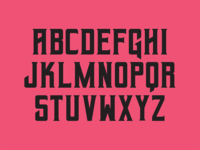 Retro Font Concept (WIP)