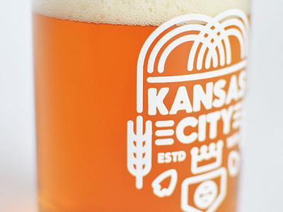 Kansas City Beer Glass pint glass royals chiefs kc kcmo missouri beer kansas city
