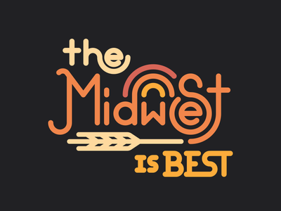 Midwest is Best lettering monoline typography logotype midwest