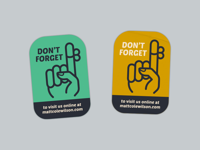 Don't Forget! icon hand retro stickers