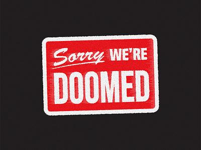 Bad Vibes parody typography doomed