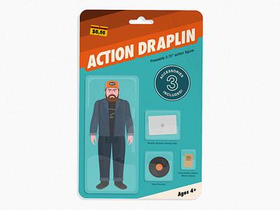Draplin Action Figure illustration action figure ddc toy thick lines draplin