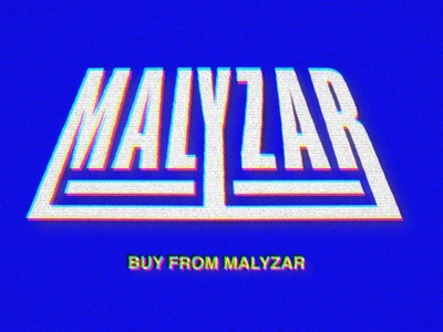MALYZAR vhs glitch typography branding retro logo