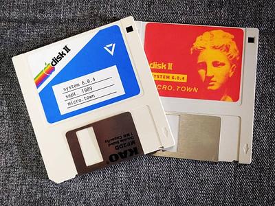 Floppy Disk Labels vaporwave floppy disk