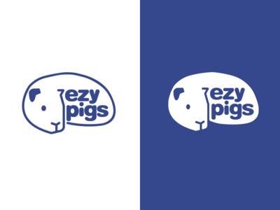 EzyPigs / Logo Design animal care typeface create logomark negative space pet logo brand identity