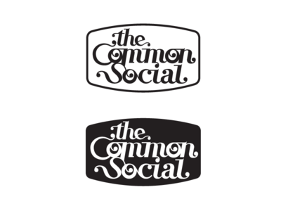 Common Social / Logo concept logotype typography social cafe nonprofit mark logo identity clean brand