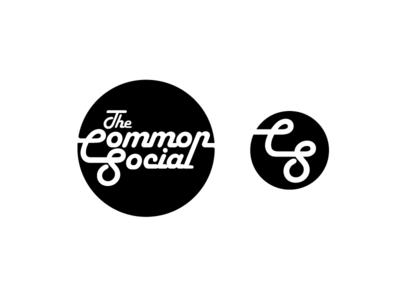 Common Social / Logo + logomark concept logotype typography social cafe nonprofit mark logo identity clean brand