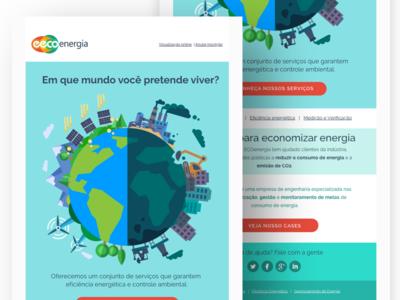 EEC Eco Energy Newsletter #1 web design web flat design email newsletter email design digital marketing digital illustration newsletter news infos email edm