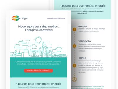 EEC Eco Energy Newsletter #2 web design web flat design email newsletter email design digital marketing digital illustration newsletter news infos email edm