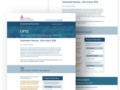 The Royal Melbourne Hospital   Engineering Newsletter #1 web design web flat design email newsletter email design digital marketing digital illustration newsletter news infos email edm