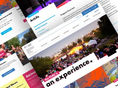 Arts Centre website UI / Work in progress black yellow blue pink interface website ux ui arts centre arts