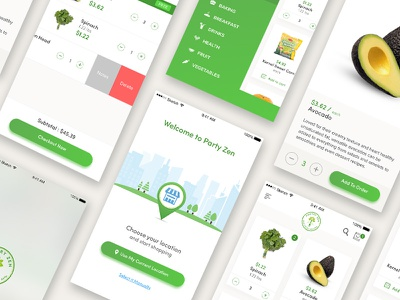 Grocery app concept green delivery app food ui grocery ios app uiux