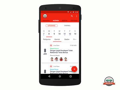 DPR Kita  app schedule ui ux ux ui android