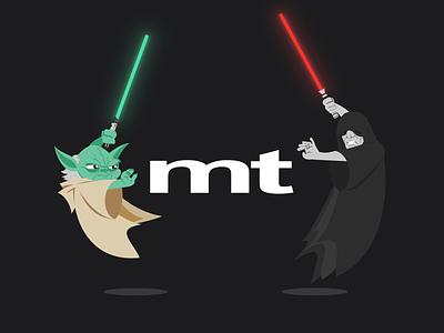 Yoda vs. Sidious by Media Temple starwars maythe4th maytheforcebewithyou