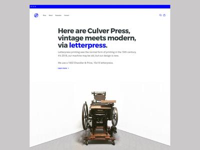 Culver Press Letterpress Website
