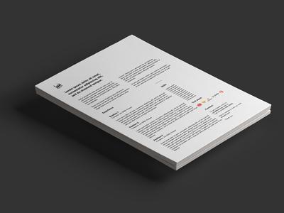 Minimal Black and White Resume Design