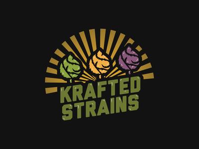Krafted Strains | Cannabis Logo