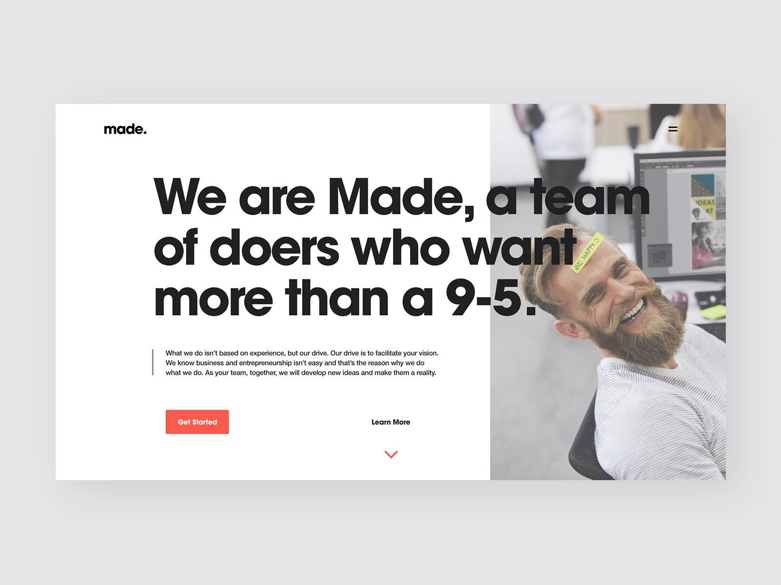 Made creates website page 1