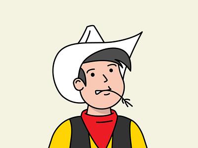 Bang bang! lucky luck cowboy lucky luck illustration hello bobby hellobobby bobby avatar