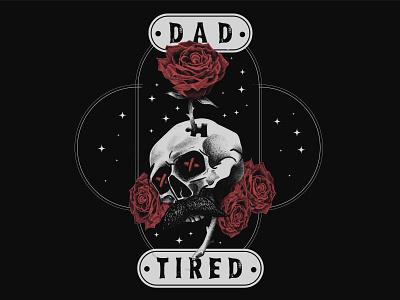 Dad Tired autism procreate rose skull illustration design photoshop