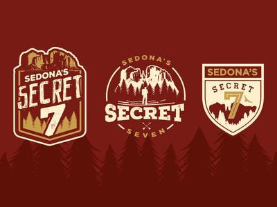 Sedona's Secret 7 outdoors adventure sedona illustrator vector logo