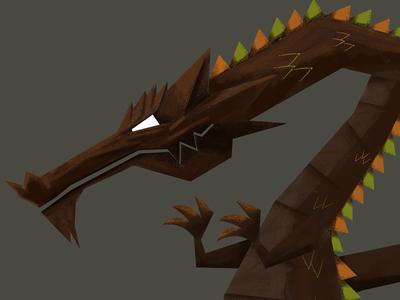 Dragon illustration fairytale dragon