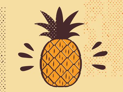 Pineapple dots illustrator pineapple vector