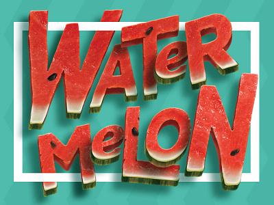 Watermelon summer illustrator photoshop watermelon type