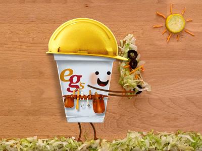Construction Worker vegetables tool belt lettuce hard hat construction worker photoshop illustrator